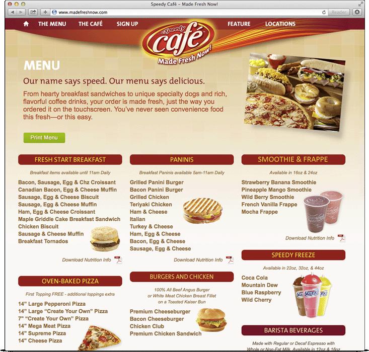 Speedy Cafe Menu Prices